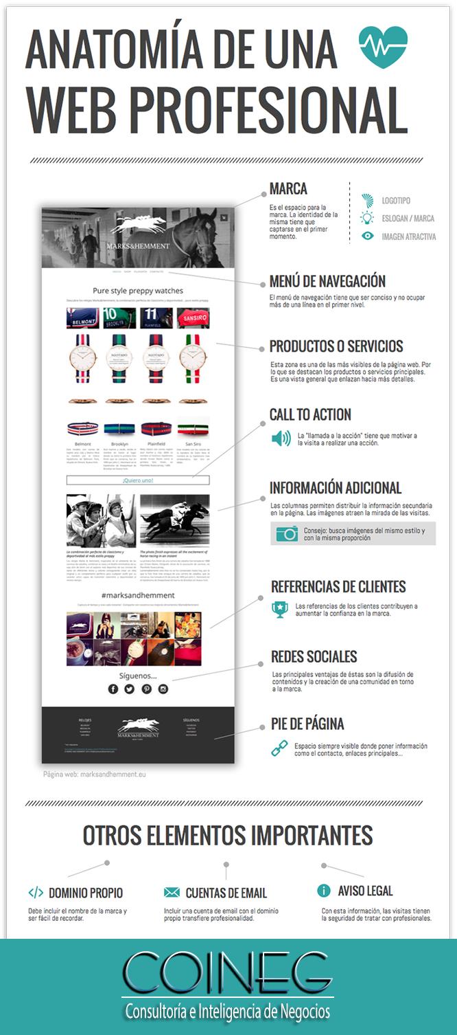 anatomia de una web profesional